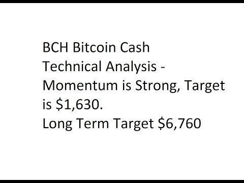 BCH Bitcoin Cash - Technical Analysis - Momentum is Strong, Target is $1,630