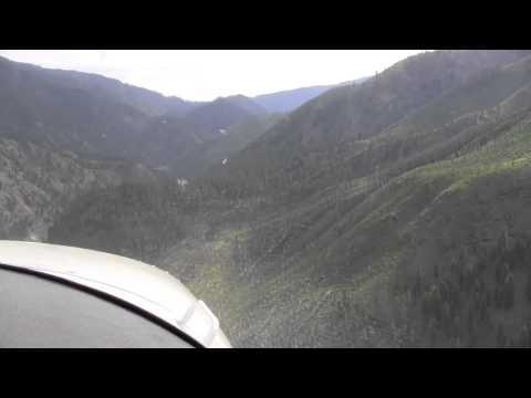Cessna 185 landing Allison Ranch