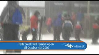 Falls Creek Snow Update 24th September 2009