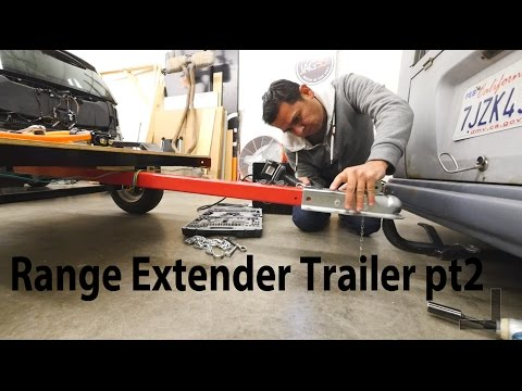 Electric Vehicle Range extending Tesla Battery Trailer project pt2