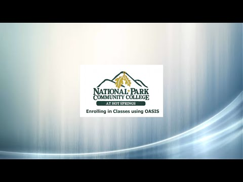 Self Enrollment at National Park Community College