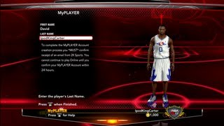 NBA 2K13 - How To Create Your MyPLAYER Account | Choose Your Name Wisely Feat. David IpodKingCarter