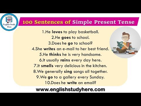 100 Sentences of Simple Present Tense - English Study Here
