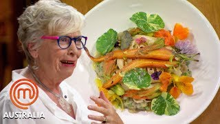 Maggie Beer's Mystery Box & Invention Test | MasterChef Australia