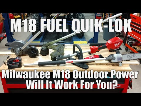 Milwaukee M18 FUEL Quik-Lok Cordless Outdoor Power Tool System | String Trimmer, Edger, Pole Saw