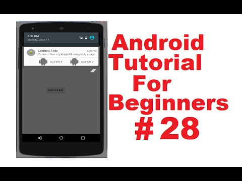 Android Tutorial for Beginners 28 # Showing Notifications and using  NotificationManager