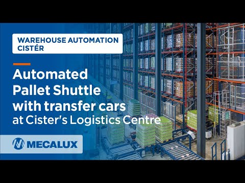 Automated #PalletShuttle with transfer cars at Cister's Logistics Centre