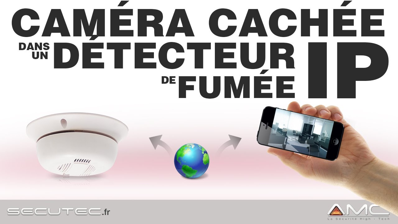 Camera cach e ip wifi dans un d tecteur de fum e secutec fr youtube - Camera de surveillance discrete ...