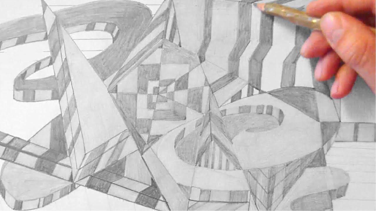 Abstrakt 3d Zeichnen Im Zeitraffer 05 Abstract 3d Drawing In Fast Motion Hd