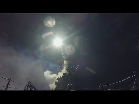 Pentagon video shows US missiles being fired at Syria airbase