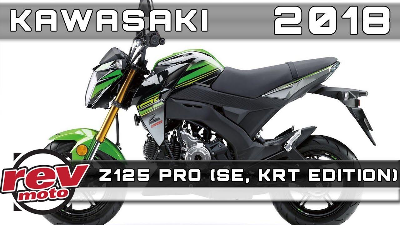 2018 kawasaki z125 pro (se, krt edition) review rendered price