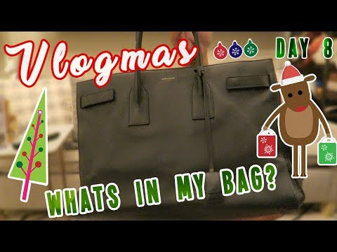 WHAT'S IN MY BAG | VLOGMAS DAY 8