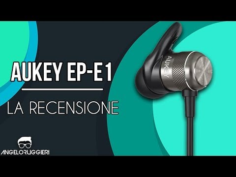 90bb07747c9 RECENSIONE Cuffie Bluetooth AUKEY EP-E1 - YouTube
