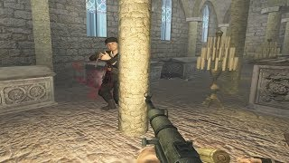 """Call of Duty 2 - Castle Wolfenstein Mod Gameplay - RtCW """"Crypts"""" Mission"""