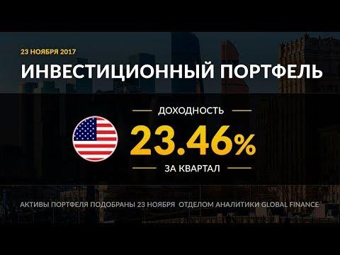 Инвестиционный портфель акций. Ноябрь, 2017   Global FInance