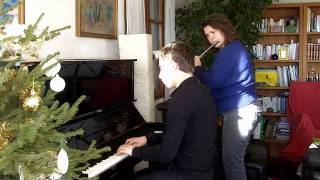 Le grand blond piano et flute traversière