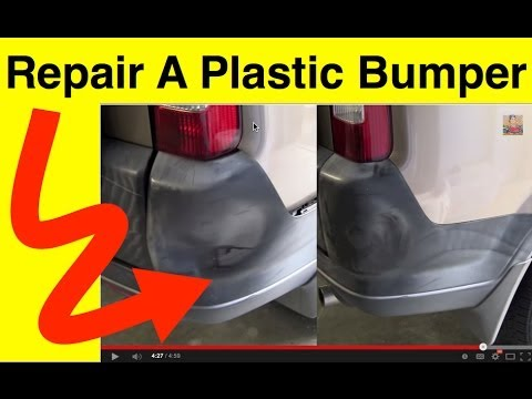 how to repair plastic bumper covers plastic bumper repair in minutes youtube. Black Bedroom Furniture Sets. Home Design Ideas