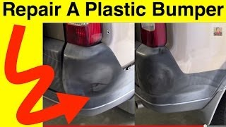 How To Repair Plastic Bumper Covers - Plastic Bumper Repair (in minutes!)