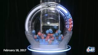 Lotto 6/49 Draw, - February 18, 2017
