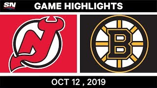 NHL Highlights | Devils vs Bruins – Oct 12th 2019