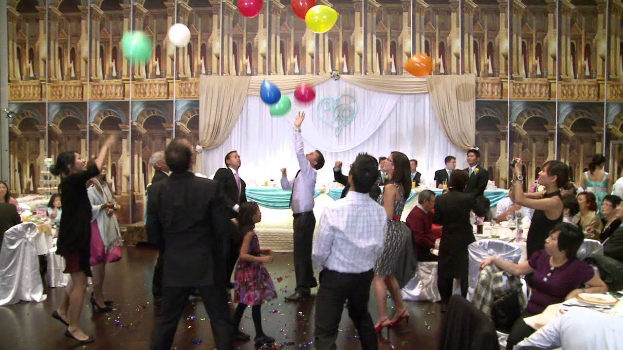 Funny Balloon Game at A Wedding Reception in Toronto GTA Wedding