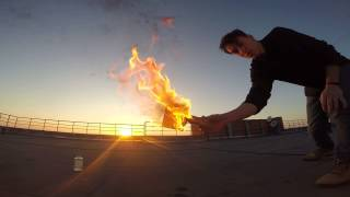 Бейсбол Огненной Туалетной Бумагой на Крыше.Доигрались...