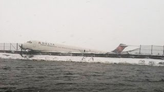 LaGuardia Accident: Delta Jet Skids Off Runway, Minor Injuries
