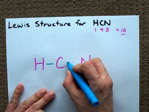 Lewis Structure of HCN - YouTube