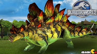 Jurassic World The Game - Super Rare Pack Dilophosaurus Vs Labyrinthodontia Stage 10!