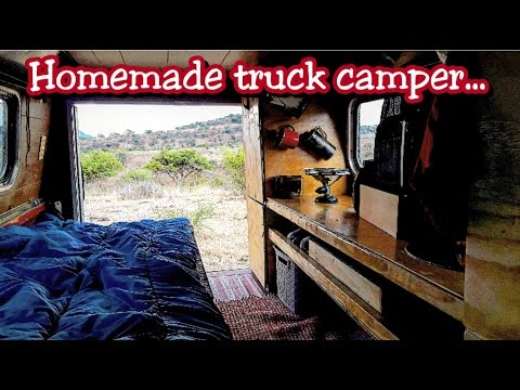 AMAZING HOMEMADE TRUCK CAMPER!! DIY COMFORT AND LUXURY!! BUG OUT VEHICLE!!