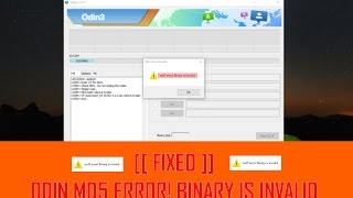 Odin Fix md5 error! Binary is invalid [CF-Auto-Root or Any .md5 files]