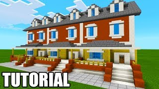 """Minecraft Tutorial: How To Make A Suburban Townhouse """"City House Tutorial"""""""