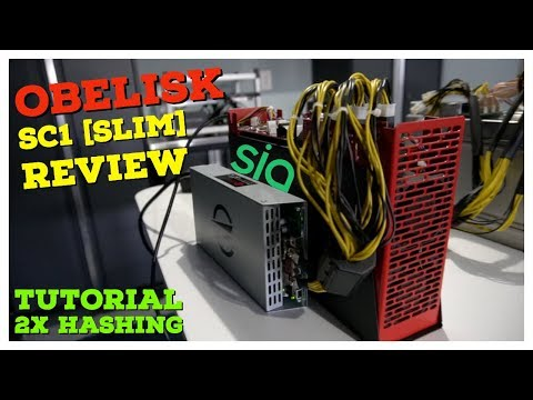 Obelisk Tech SC1 Slim SIA Miner | Review & Tutorial | How To Upgrade Hashboards 2x Earnings