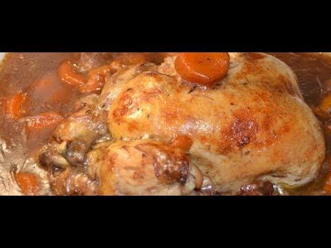 recette cookeo poulet entier vin rouge