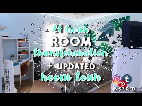 My 24 Hour Room Transformation + Updated Room Tour! | aliyah simone