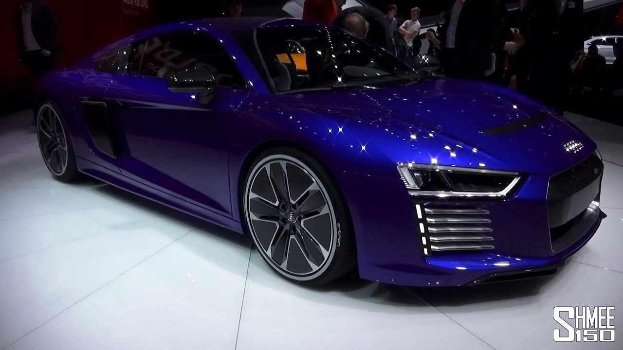 first look audi r8 e tron geneva 2015 youtube. Black Bedroom Furniture Sets. Home Design Ideas