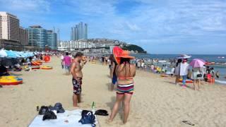 Пусан шахридаги хюундай пляжи.
