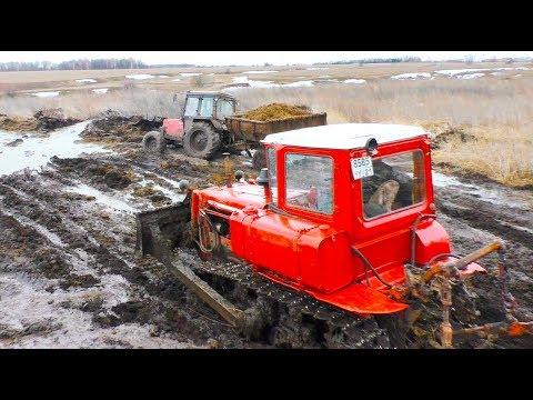 Работа трактористов в колхозе