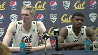 Cal Men's Basketball: Darius McNeill and Connor Vanover Press Conference (2/13/19)