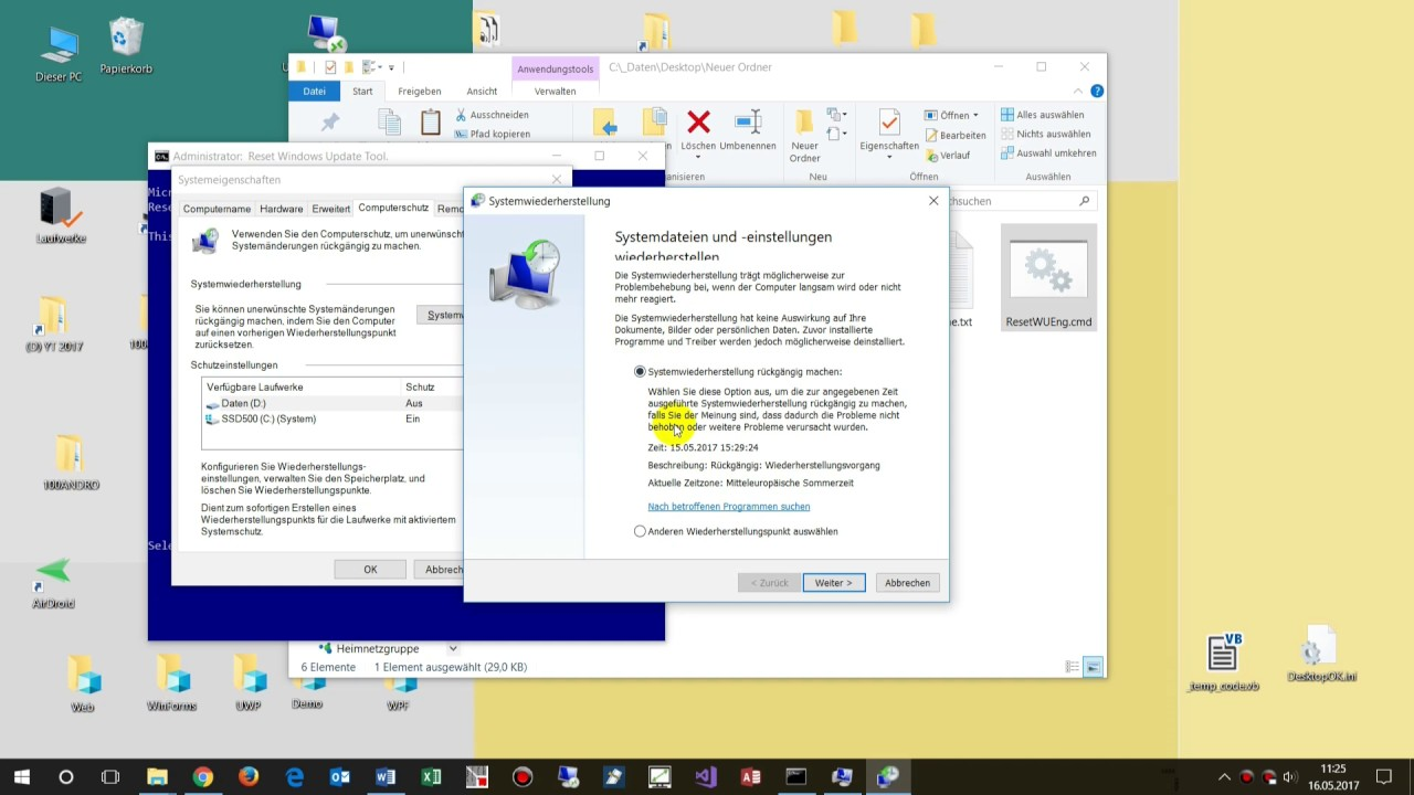 Windows 10 Reparatur: Mit ResetWUEng Reset Windows Update Agent