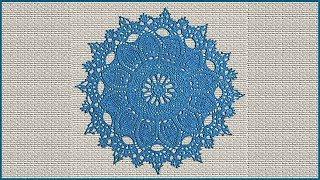Красивая салфетка крючком. Вязание салфетки. Салфетка крючком. Часть 2. (napkin. crochet. P. 2)