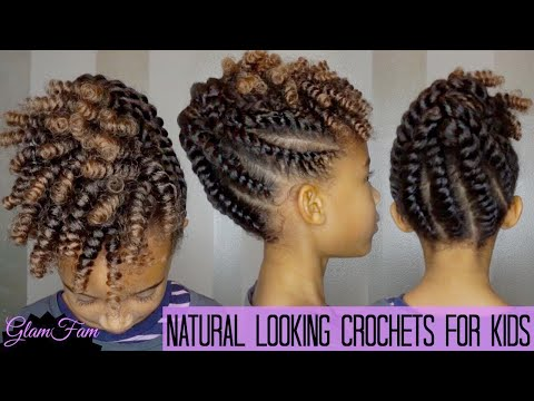 Kids Protective Hairstyle With Crochet Braids