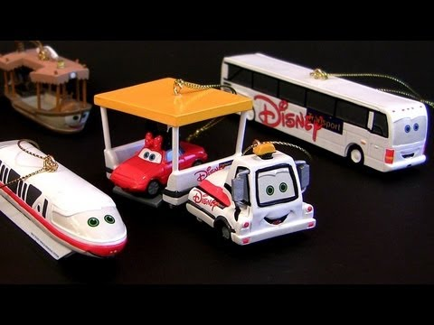 Disney Theme Parks Monorail Cars Bus Transportation Christmas Ornament Disneyland Cars Land Toys