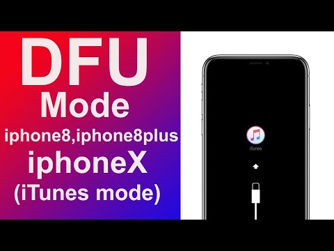 how to put DFU mode on iPhone 8, iPhone 8 plus, and iPhone x