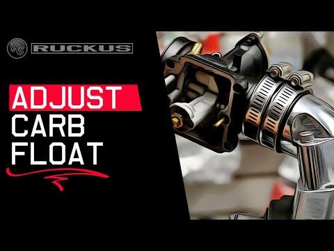 ADJUSTING SCOOTER, MOTORCYCLE CARBURETOR FLOAT