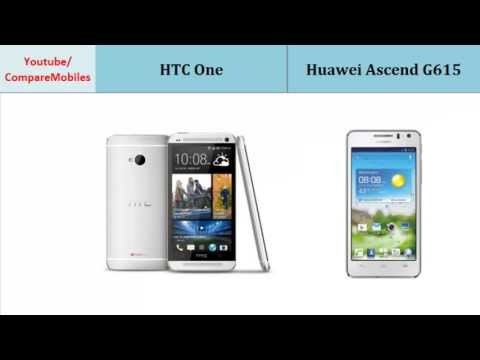 HTC One to Huawei Ascend G615, compare specifications