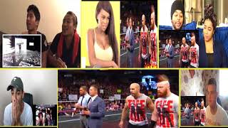 THE SHIELD REUNIT RAW 2017 #REACTION MASHUP VIDEO|| WWE 🐌🐌🐌
