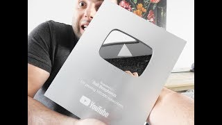 reached-100000-subscribers,-unboxing-my-silver-play-button