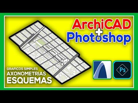ArchiCAD + Photoshop - Crear Y Editar ESQUEMAS ARQUITECTÓNICOS (Axonometrías)