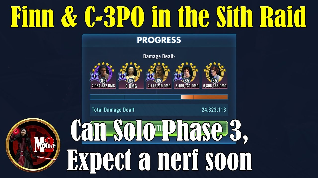 C3PO Soloing Phase 3 of the Sith Raid, Expect a Nerf Soon